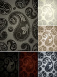 Wallpaper pattern, six colors seamless Royalty Free Stock Photos