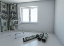Wallpaper patterned dollar as a symbol - the money stock illustration