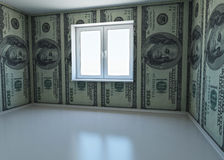 Wallpaper patterned dollar as a symbol - the money Royalty Free Stock Photos