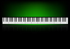 Wallpaper with piano Royalty Free Stock Photos