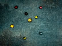 Wallpaper Planetary system. Seven planets orbit around a giant star stock photography