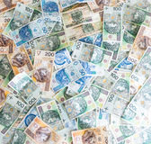 Wallpaper of Polish money Royalty Free Stock Image