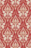 Wallpaper red-beige. Floral textile pattern and wallpaper pattern Royalty Free Stock Image
