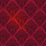 Wallpaper with red pattern Stock Image