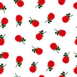 Wallpaper with red roses Stock Image