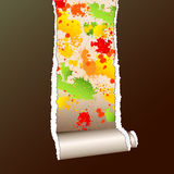 Wallpaper ripped Stock Images