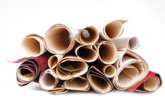 Wallpaper rolls texture Royalty Free Stock Image