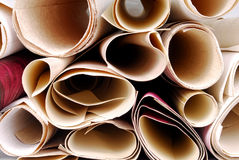 Wallpaper rolls texture Royalty Free Stock Photo