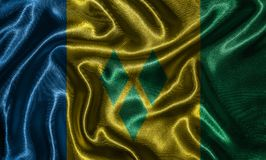Wallpaper by Saint Vincent and Grenadines flag and waving flag b stock images
