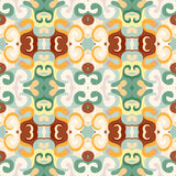 Wallpaper seamless color retro pattern Royalty Free Stock Photo