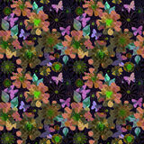 Wallpaper seamless colorful flowers pattern background Royalty Free Stock Image