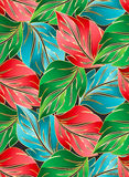 Wallpaper of seamless leaves Royalty Free Stock Image