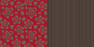 Wallpaper seamless pattern, fashion design, vector Stock Images