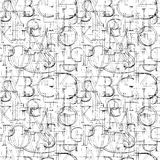 Wallpaper seamless pattern with Modern Roman Classic Alphabet. Stock Photography