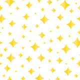Wallpaper with Seamless pattern of shining stars Stock Photo