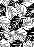 Wallpaper of seamless vector leaves Royalty Free Stock Photography