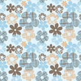 Wallpaper seamless vintage  flower pattern Stock Photography