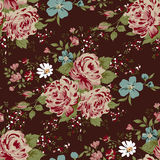 Wallpaper seamless vintage pink flower pattern. Royalty Free Stock Photography