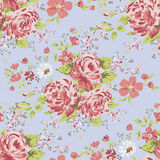 Wallpaper seamless vintage pink flower pattern. Stock Photos
