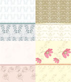 Wallpaper set in pastel colors Royalty Free Stock Photography
