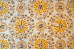 Wallpaper from the seventies. A typical wallpaper from the seventies Royalty Free Stock Image