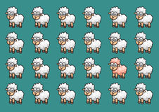 Wallpaper sheep background Royalty Free Stock Images