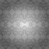 Wallpaper Silver Abstract. Batik ornament with abstract shape for texture, background, invitation card or cover and decoration picture Royalty Free Stock Photos