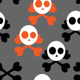 Wallpaper skull cross Stock Photography