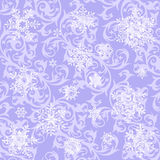 Wallpaper & snowflakes Royalty Free Stock Photography