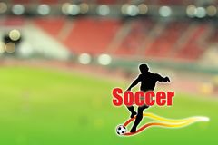Wallpaper Soccer Royalty Free Stock Photography