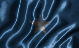 Wallpaper by Somalia flag and waving flag by fabric. Somalia flag - Fabric flag of Somalia country, Background and wallpaper of waving flag by textile stock photos