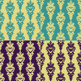 Wallpaper in the style of Baroque. A seamless vector background with Baroque style Royalty Free Stock Photo
