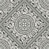 Wallpaper in the style of Baroque. seamless Stock Photo
