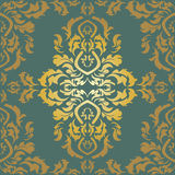 Wallpaper in the style of Baroque. A seamless vector background. Stock Photo
