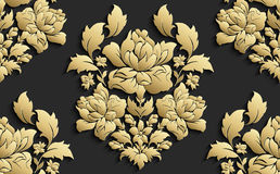 Wallpaper in the style of Baroque . Vector damask seamless floral pattern . Rose ornament . Wallpaper in the style of Baroque . Vector damask seamless floral Stock Photo