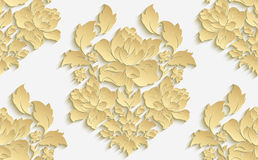 Wallpaper in the style of Baroque . Vector damask seamless floral pattern . Rose ornament . Wallpaper in the style of Baroque . Vector damask seamless floral Stock Images