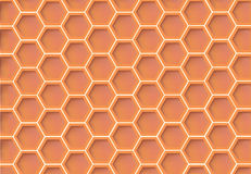 Wallpaper in the style of honey cells Stock Photo