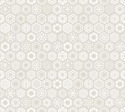 Wallpaper with stylized snowflakes. Royalty Free Stock Images