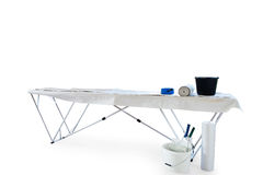 Wallpaper table isolated on white clipping path royalty free stock photo