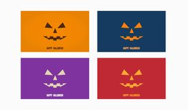 Wallpaper template with halloween design stock illustration