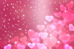 Wallpaper  to Valentine's Day with pink hearts Royalty Free Stock Images