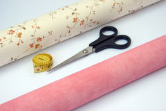 Wallpaper and tools. Royalty Free Stock Images