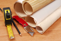 Wallpaper and tools Stock Images