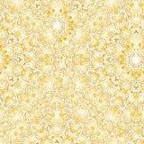 wallpaper Un fondo senza cuciture di vettore oro Immagini Stock Libere da Diritti