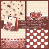 Wallpaper, Valentine's Day gift paper or for Royalty Free Stock Images