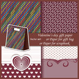 Wallpaper, Valentine's Day gift paper or for Stock Images