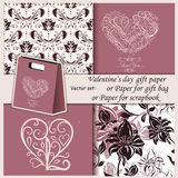 Wallpaper, Valentine's Day gift paper or for Stock Photo