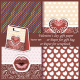 Wallpaper, Valentine's Day gift paper or for Royalty Free Stock Photo
