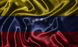 Wallpaper by Venezuela flag and waving flag by fabric. stock photography