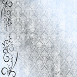Wallpaper and vine. Antique wallpaper with floral vine Royalty Free Stock Photos